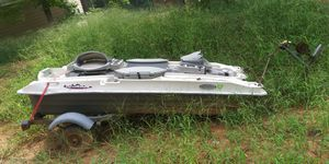 Pelican Ram-xx Fishing boat with aluminum trailer trolling motor and battery for Sale in Bethlehem, GA