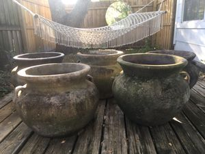 "Five large 17"" outdoor planter for Sale in St. Pete Beach, FL"
