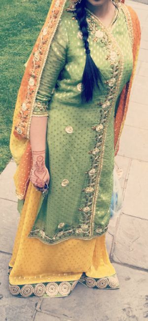 Mehndi yellow gota dress for Sale in Levittown, NY