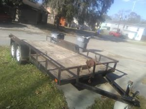12 ft double Axel trailer for sale are trade 800 obo for Sale in US