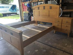 Queen Bed Frame and Night Stand for Sale in Thornton, CO
