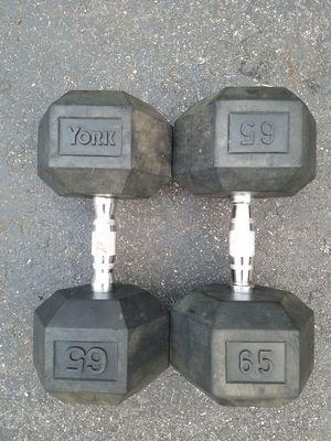 Urethane Dumbbells-65lbs for Sale in Richmond, VA