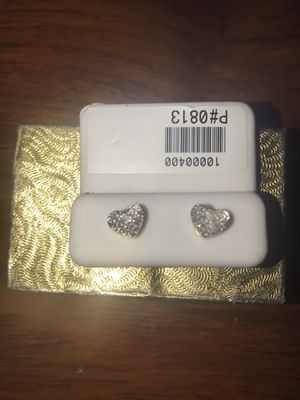 10k gold and diamond earrings for Sale in Hartford, CT
