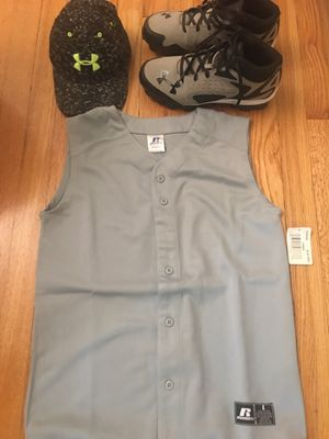 Baseball outfit, cleats . for Sale in Woodhaven, MI