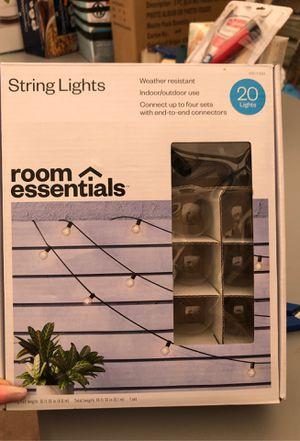 20 string lights -indoor/outdoor for Sale in Downey, CA