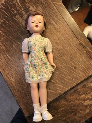 Vintage antique 1950s solid body Mary Lu Walker doll in excellent shape for Sale in Seattle, WA