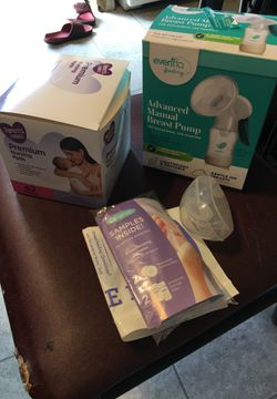Nursing pads, nipple cover, and manual breast pump for Sale in Buckley,  MI