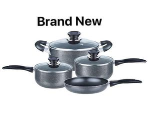 Brentwood 7 Piece Cookware Kitchen Home Juego de Sarten Olla Aluminio Cocina BPS-207G for Sale in Miami, FL