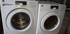 Kenmore white front loader washer and gas dryer for Sale in Ceres, CA