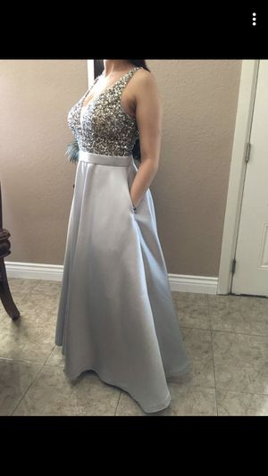 Silver Prom Dress for Sale in Las Vegas, NV