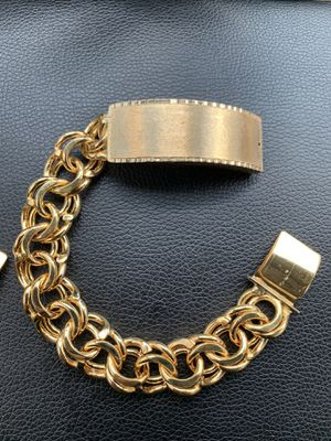 14 K gold filled custom-made Chino Link bracelet for Sale in Houston, TX