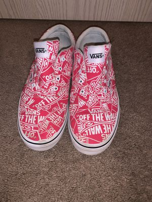 Vans size 8 red for Sale in Springfield, OR
