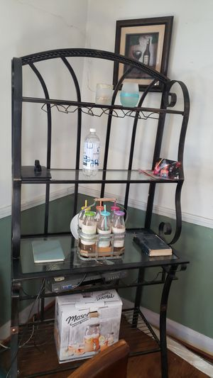 Bakers Rack/ wine rack, wrought iron, for Sale in Baltimore, MD