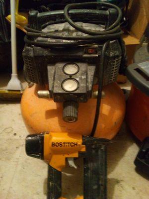 Bostitch air compressor and nail gun for Sale in Miami, FL