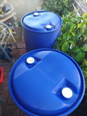 50 gallon plastic barrel for Sale in Fontana, CA