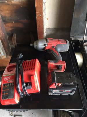 """Milwaukee M18 1/2"""" impact with 5.0ah battery and charger for Sale in Oshkosh, WI"""