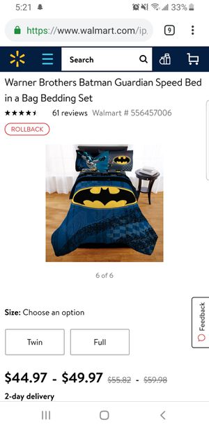 Batman comforter twin for Sale in Westminster, CO