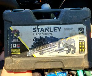 123 pc Stanley Black Chrome Socket Set for Sale in WLKS BARR Township, PA
