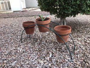Three pot holder stand for Sale in El Mirage, AZ