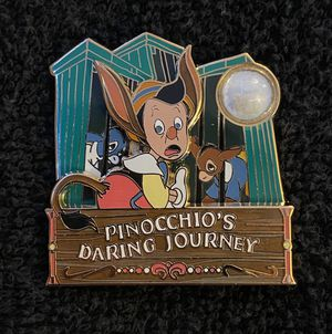 Disney Pin #197, LE (1500), 2014, A Piece of Disneyland Resort History, Pinocchio's Daring Journey for Sale in San Diego, CA