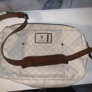 Vintage GUCCI GG Canvas Messenger Bag Unisex for Sale in Newport Beach, CA