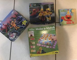 Sesame Street Game and Puzzles for Sale in Pembroke Pines, FL