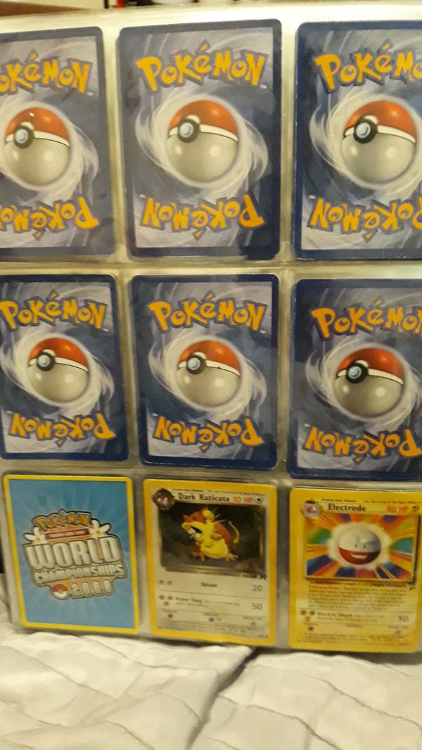 Pokemon oldschool collection trading cards