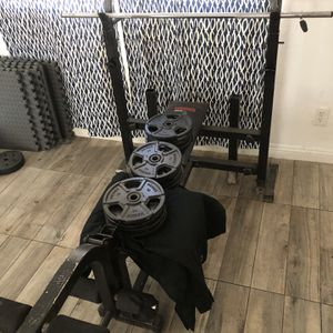 Bench Press+Leg Developer+120lbs Combo for Sale in Rancho Cucamonga, CA
