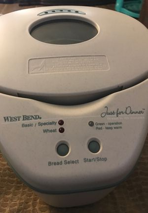 West bend bread maker just for dinner for Sale in Chandler, AZ