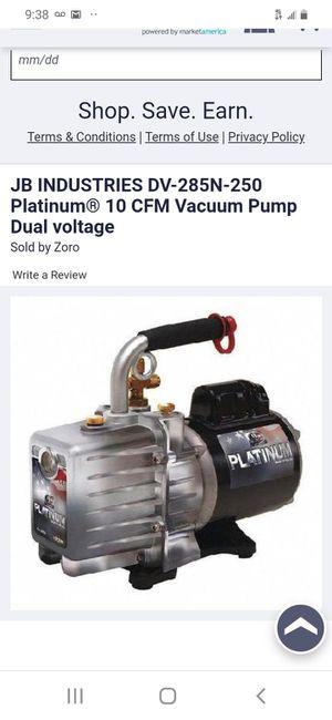 Jb platinum 10 cfm vacuum pump for Sale in San Jose, CA