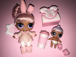 "Lol Dolls ""Snow bunny and lil snow bunny"" for Sale in Portland, OR"