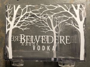 Belvedere Vodka acrylic ice/bottle bucket for Sale in Las Vegas, NV