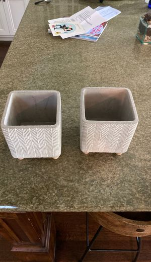 New pair of succulent / cactus pots for Sale in Dallas, TX