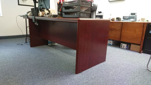 Office Table, Cherry Color, 2 Drawer, Excellent Condition.