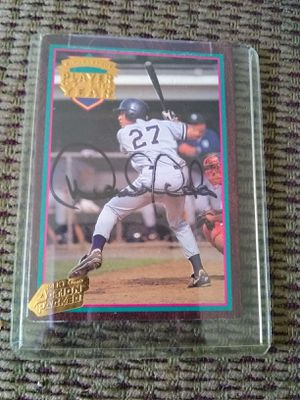 Signed Derek Jeter Player of the Year Baseball Card for Sale in Columbia, SC