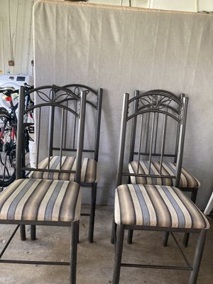 4 Metal Bistro Chairs for Sale in Miami, FL