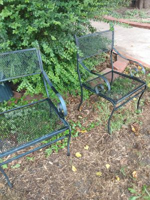 Two metal chairs ,, need fix (welding) for Sale in Grand Prairie, TX