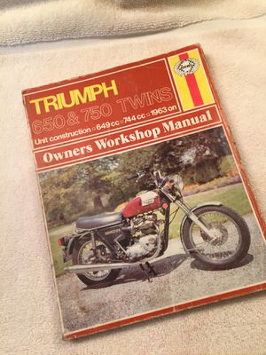 Triumph Motorcycle Service Manual for Sale in Plainfield, IL