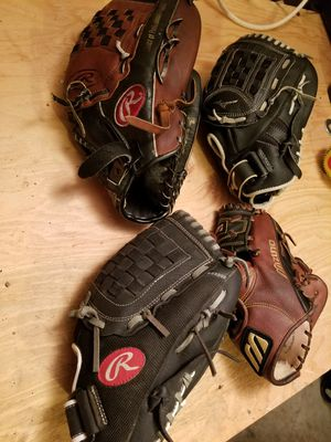 Softball baseball gloves for Sale in Kirkland, WA
