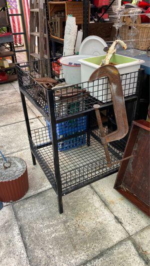 "Wire display basket tray stand 36 x24x24"",black metal organizer,shop tool garage storage container rack for Sale in Riviera Beach, FL"