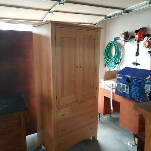 Maple Armoire And Dresser for Sale in Snohomish, WA