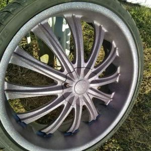 """22"""" Inch Rims And Tires Paint Purple for Sale in Indianapolis, IN"""