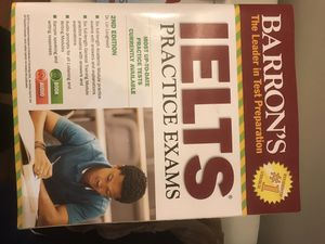 Book IELTS practice exams with CDs in good print for Sale in Burke, VA