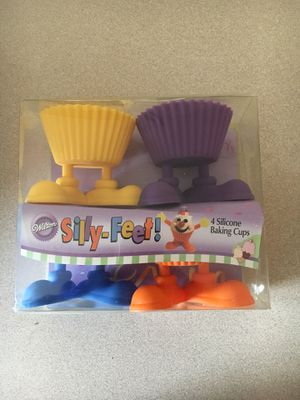Wilton silly feet silicone cupcake cups for Sale in Mesa, AZ