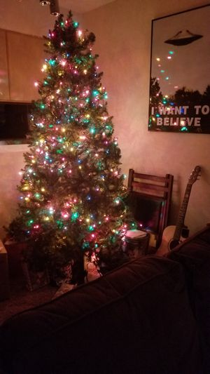 Christmas Tree + Stand +Lights (7+ft) for Sale in North Richland Hills, TX
