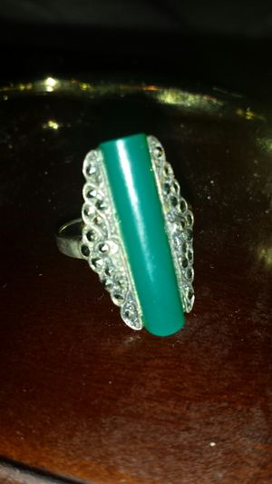925 Silver Ring with Forest Green Stone for Sale in Fairfax, VA