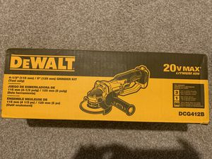 DEWALT 20-Volt MAX Lithium-Ion Cordless 4-1/2 in. to 5 in. Grinder (Tool Only) for Sale in Chandler, AZ
