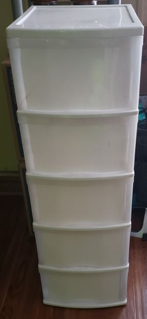 5 drawer plastic container for Sale in Fort Worth, TX