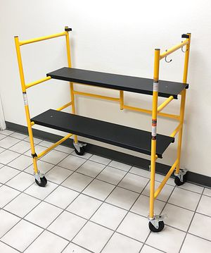 "New $55 Heavy Duty Steel Folding Scaffold Step Ladder - 500lbs Capacity 39""x22""x46"" for Sale in South El Monte, CA"