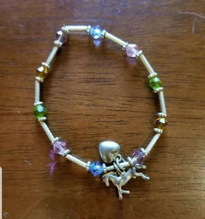 Elastic Beaded Bracelet With Horse And Heart Charms for Sale in Lexington, SC